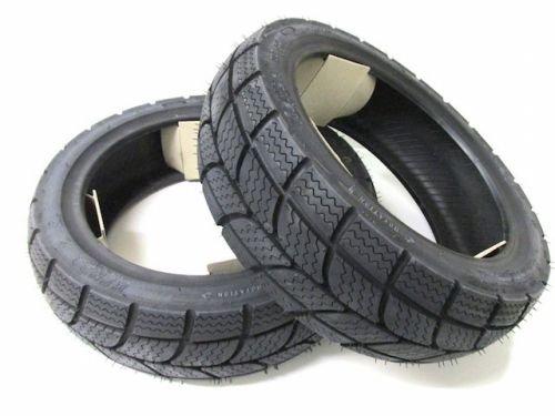 KENDA Winter Roller Reifen Set Satz für Daelim, Derbi, Explorer (120/70-12 + 130/70-12) M+S