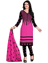 A K Designer Women's Chiffon Dress Material(Mehak5004_multicoloured_Free Size)