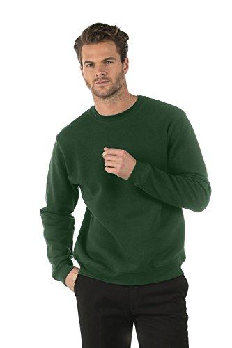 Bruntwood Klassisches Sweatshirt mit Rundhalsausschnitt - Classic Crew Neck Sweatshirt - Herren & Damen - 280GSM - Baumwolle/Polyester Flaschengrün