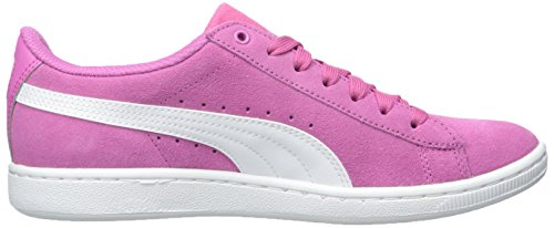 Puma Womens Vikky Leather Trainers Phlox Pink-White