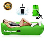 Gaintpow Inflatable Lounger, Waterproof Air Lounger with Thicker Fabric, Portable Lazy Lounger Inflatable Sofa Couch, Outdoor Sofa for Camping, Hiking, Swimming Pool, Beach - Hold Up To 500lb (Green)