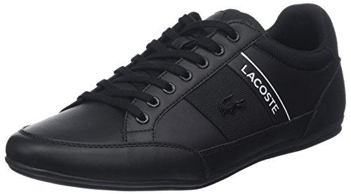 Lacoste Herren Chaymon 318 5 Us Cam Sneaker, Schwarz (Blk/WHT 312), 41 EU