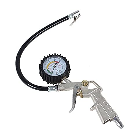 Xcellent Global Reifenfüllgerät mit Pegel Auto Reifen Druckmesser AT016
