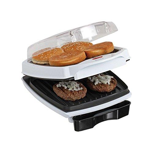 Kontaktgrill Deckel Sandwich-Maker 700 Watt Grill Hamburger Maker (Sandwich-Toaster, Multigrill, Tischgrill, Panini-Maker, - Patty Grill