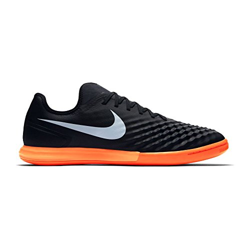 Nike 844444-019, Chaussures de Football en Salle Homme 019 BLACK/WHITE-HYPR ORNG-PRMN