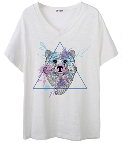 So'each Damen T-Shirt Weiß