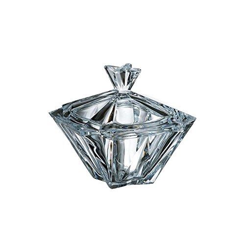 JOZEFINA ATELIER Bohemia 20,6 cm Kristallglas Zuckerdose mit Deckel Metropolitan Crystal Sugar Bowl