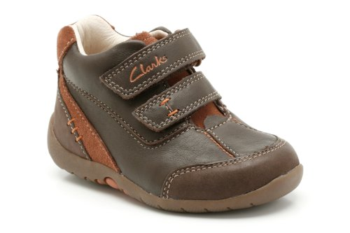 Clarks Boy's Brown Leather First Walking Shoes - 4 kids UK/India (20 EU)