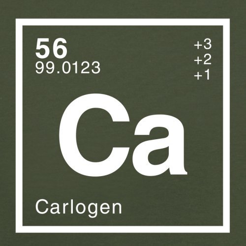 Carlo Periodensystem - Herren T-Shirt - 13 Farben Olivgrün