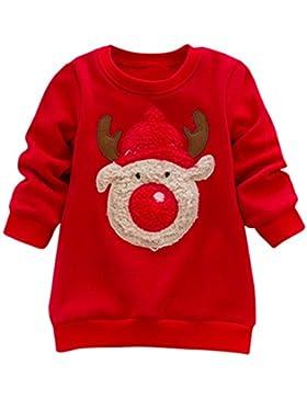 Hirolan Weihnachten Sweatshirt Kinderbekleidung Langarmshirt Strickpullover Kapuzenpullover Cardigan Weihnachtskostüm...