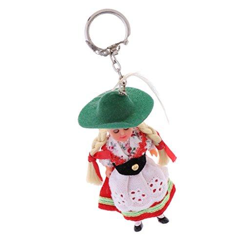 Baoblaze Mini Nationalität Puppe Schlüsselanhänger Handyanhänger Taschenanhänger Geschenke Souvenir - ()