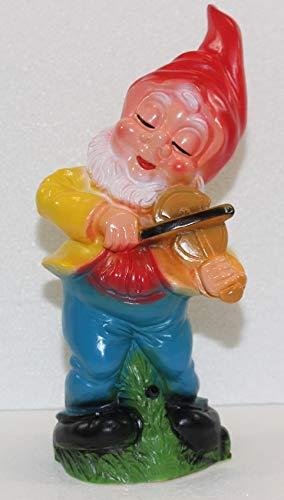 """Zwerg mit Geige und Bewegungsmelder """"Happy Birthday"""""""