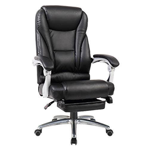 Lehnstühle Chef Stuhl Heimcomputer Stuhl Ergonomischer Stuhl Bequemer Drehstuhl Bürostuhl Spielstuhl (Color : Black, Size : 64 * 51 * 114cm)
