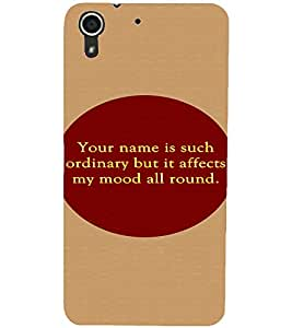 PrintDhaba Quote D-2906 Back Case Cover for HTC DESIRE 728 (Multi-Coloured)