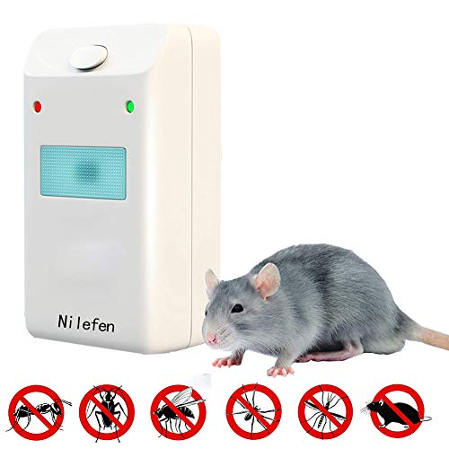 NILEFEN Ultrasound Insect Removal Device - Indoor Pest Control Devices with  Ultrasonic & Electromagnetic Power - Fight against Rats, Mice, Ants,