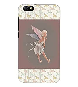 PrintDhaba Angel D-3682 Back Case Cover for HUAWEI HONOR 4X (Multi-Coloured)