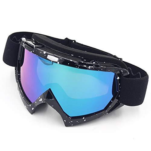 Radbrille Klar Verdrehsichere Schutzbrille Gegen Staubschutzbrille Offroad Skibrille Skibrille Windschutzbrille Black White Color Damen Herren