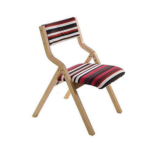 Hohe Rückenlehne Aus Bugholz Stuhl (SACKDERTY Klappstuhl Hölzerner faltender speisender Stuhl mit aufgefülltem Rückenlehnen-Schreibtisch-Stuhl-Restaurant)