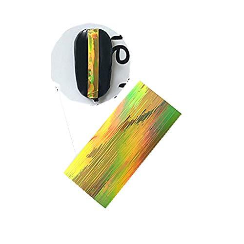 kashyk Nagelaufkleber 1pc / Bügelgummigold und silberner Laser-Nagelaufkleber/Multifunktionsferiennagelaufkleber/wasserdichter Umweltschutz/dauerhaft/DIY Nagelschmucksachen/Hochzeit/Partei