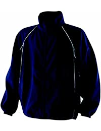Finden & Hales Piped Showerproof Training Jacket - Navy/Navy/White - XS