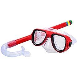 Enfants Snorkel Set Dry Top Snorkel avec des Lunettes Easy Tools Snorkeling Réglable Junior Vitesse Snorkeling pour Les Garçons Et Les Filles