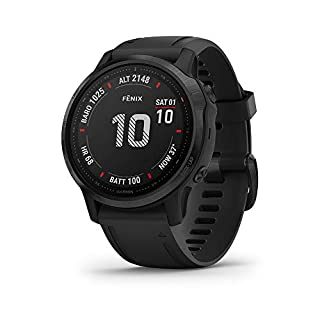 Garmin Fenix 6S Pro, Premium Multisport GPS Watch, Smaller-Sized, Features Mapping, Music, Grade-Adjusted Pace Monitoring and Pulse Ox Sensors, Black with Black Band (B07VYV7BDG) | Amazon price tracker / tracking, Amazon price history charts, Amazon price watches, Amazon price drop alerts