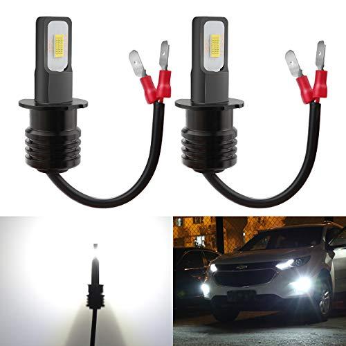 KaTur H3-Nebelscheinwerferlampen extrem hell 2400 Lumen, max. 75 W, hohe Leistung für Tagfahrlicht, Tagfahrlicht oder Nebelscheinwerfer, Xenonweiß (H3-Weiß)