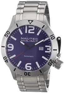 Reloj Nautec No Limit Canteen Diver de caballero automático con correa de acero inoxidable plateada de Nautec No Limit