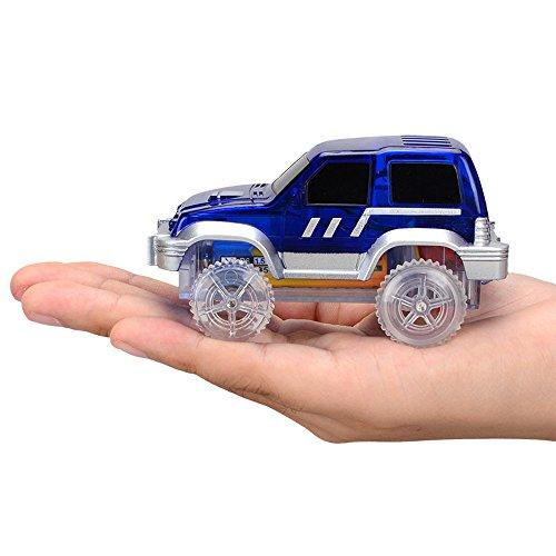 Yagii Mini Elektrisch LED Auto für Kinder Im Dunkeln Leuchten Spielzeug Vorschul Unterhaltung DIY Spielzeug