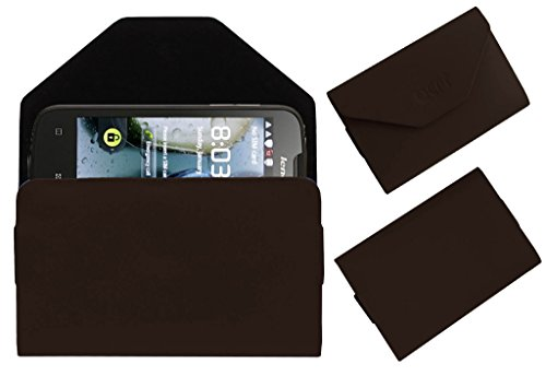 Acm Premium Pouch Case For Lenovo A690 Flip Flap Cover Holder Brown  available at amazon for Rs.179