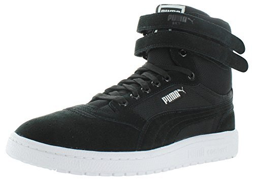 Puma-Mens-Sky-Ii-Hi-Core-Sportstyle-Shoes-Black-Size-9