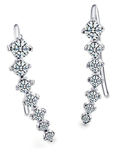 SaySure - 18K Gold Plated Ear Hook Stud Earrings Jewelry