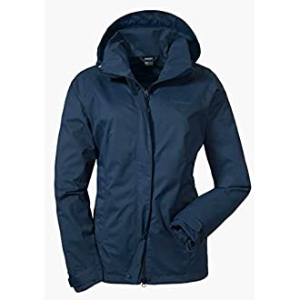 Schöffel Women's Easy L 3 Unwadded Jacket, Blue (Dress Blues), 12 (Manufacturer Size: 38)