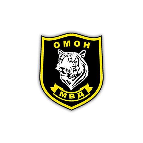 Copytec Aufkleber/Sticker - OMOH Wappen Abzeichen russische Spezialeinhiet OMON Polizei passend Für VW Golf Polo GTI MBW 3er Mercedes Audi Opel 7x6cm #A1166 -