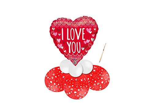 Irpot - centrotavola palloncini foil san valentino i love you cuori