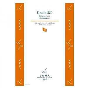 Lana DESSIN - Papier à dessin - 30 feuilles - 220g - Format: A4
