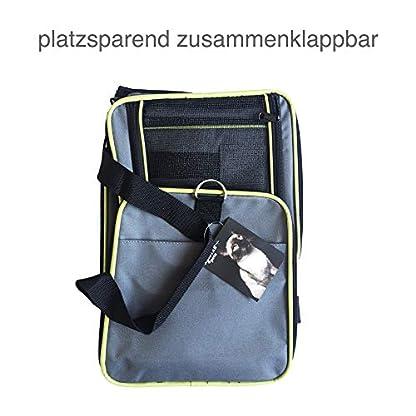 ABISTAB-Hundebox-faltbar-Transportbox-Hunde-und-Katze-Transporttasche-fr-Auto-und-Flugreisen-geeignet-Tragetasche-mit-bequemer-Liegematte-weicher-Katzenkorb-Hundekorb