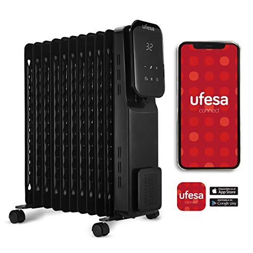 Ufesa RD2500D WIFI - Radiador de Aceite Wifi & App con 2500W, dispone de Pantalla Digital Táctil ...