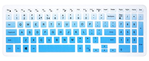 Elastische Silikon Tastatur Cover Skin für 39,6cm Dell Inspiron 153000& 5000Serie, 43,9cm Dell Inspiron 175000Serie, Inspiron 15i3541i5566, Inspiron 17i5749Series Laptop Blue Ombre