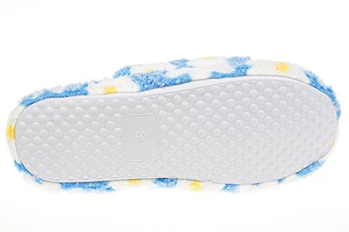 GIBRA® Damenpantoffeln mit weißer Sohle, blau, Gr. 36-41 Blau