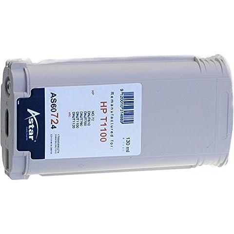 Astar AS60724 - Cartucho de tinta, 130 ml, color cian