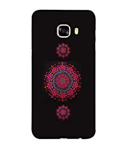 PrintVisa Designer Back Case Cover for Samsung Galaxy C5 SM-C5000 (Heart Shape Circle Embroidery Handicraft)