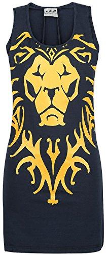 Warcraft Alliance Lion Top donna blu M