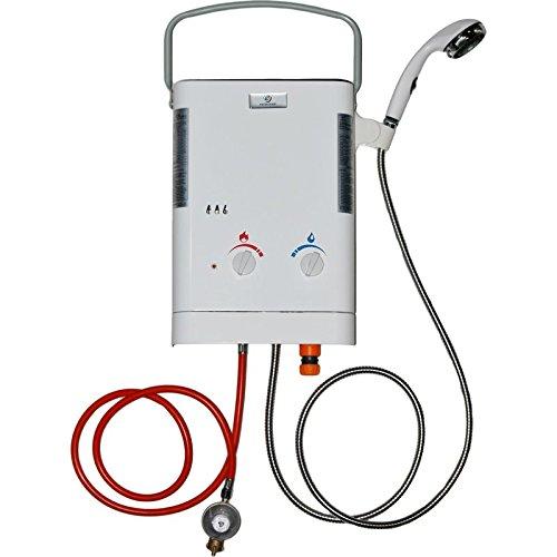 Eccotemp CE-L5 Durchlauferhitzer, tragbar, Sofortfunktion, mit Gas, Propan/Butan, außen mit Brause (30 mbar) Duschkopf-timer-abschaltung