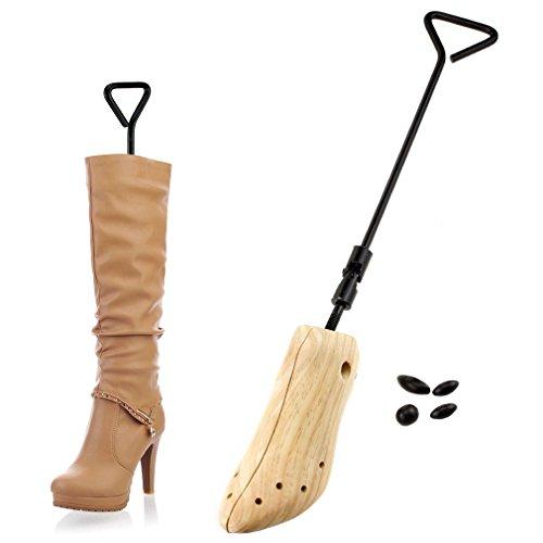 EMMA 1x Schuhspanner 2-Wege Adjustable Holz Schuhe Stretcher Expander 36-40 (EU-Größe)