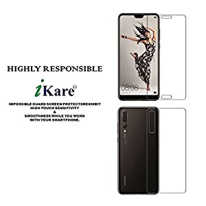 Sajni Creations Ikare Impossible Huawei P20 Pro Front and back Tempered Screen Guard , Strong Plastic Fibre Unbreakable Flexible impossible Tempered Screen Guard Protector for Huawei P20 Pro - Transparent (does not cover the edges)