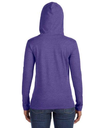 Anvil: Women's Fashion à capuche Basic LS Thé 887l Heather Purple/Neon Yellow