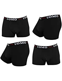 4 or 9 Pack of COOL24 brief shorts for men in black from a natural cotton - UMBLA