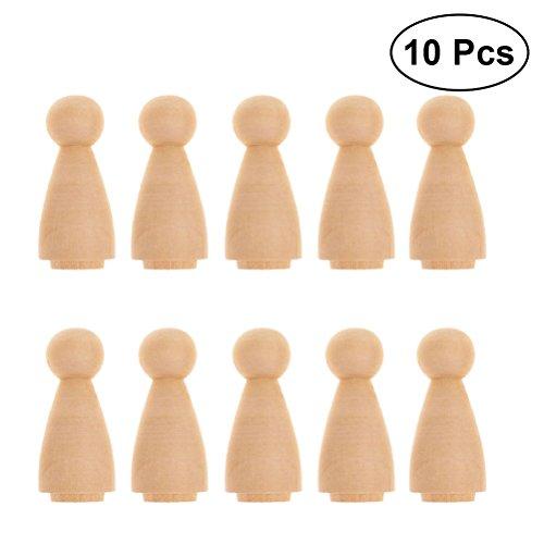 olzkegel Holz Spielfiguren zum Bemalen Basteln Holzfiguren Dekoration Ornament ()