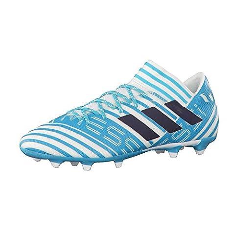 adidas Nemeziz Messi 17.3 FG, Chaussures de Football Entrainement Homme, Blanc (Footwear White/Legend Ink/Energy Blue), 39 1/3 EU